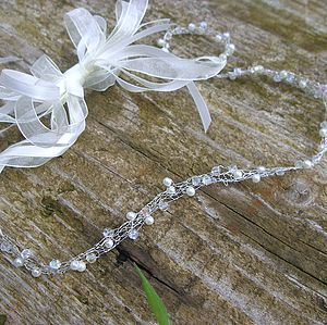 Handknitted Crystal And Pearl Hairband - hair accessories