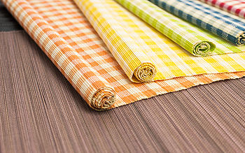 Checked Split Bamboo Placemats