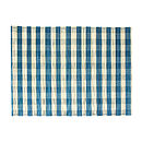 Checked Split Bamboo Placemats, Blue
