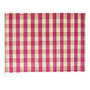 Checked Split Bamboo Placemats, Fuchsia Pink