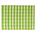 Checked Split Bamboo Placemats, Lime