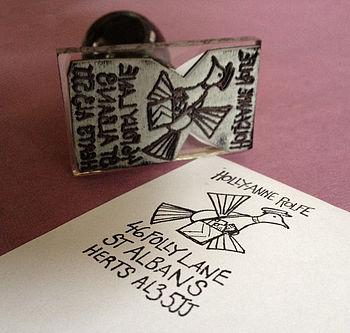 Personalised 'Pigeon Post' Address Stamp
