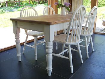 Painted Farmhouse Table And Quaker Chairs