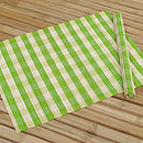 Checked Bamboo Placemats Lime
