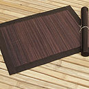 Spilt Bamboo and Cotton Placemats, Brown