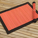 Spilt Bamboo and Cotton Placemats, Salmon