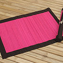 Spilt Bamboo and Cotton Placemats, Fuchsia Pink