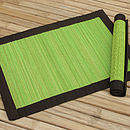 Spilt Bamboo and Cotton Placemats, Lime