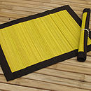 Spilt Bamboo and Cotton Placemats, Yellow