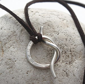 Personalised Unisex Silver Knot Necklace - men's jewellery