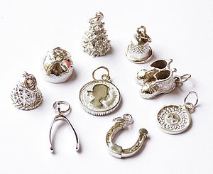 Set Of Nine Christmas Luxury Pudding Charms - cake decoration