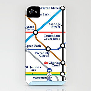 London Tube Map On IPhone Case - phone & tablet covers & cases