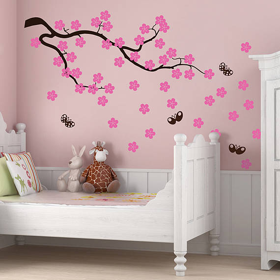 Cherry Blossom Branch Wall Stickers By Parkins Interiors
