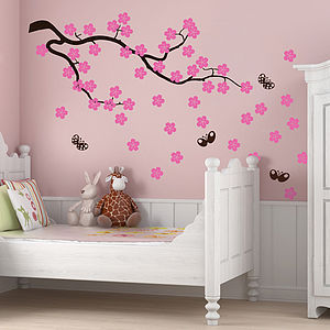 Cherry Blossom Branch Wall Stickers - decorative accessories