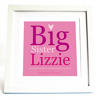 Big Sister Personalised Print
