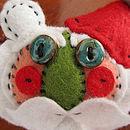 Heirloom Santa Handmade Felt Bear