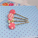Button Beau Hair Clip Set 1