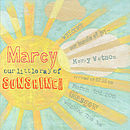 Personalised Sunshine Nursery Print
