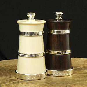 Rosewood & Ivorine Pepper & Salt Mills - tableware