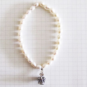 'Live Laugh Love' Pearl Bracelet
