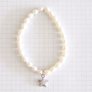 'Shining Star' Pearl Bracelet - wedding jewellery