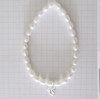 'Oh Baby' New Mum Pearl Bracelet