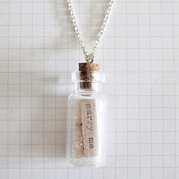 Message Bottle Necklace Marry Me