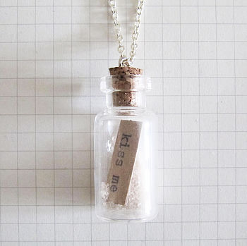 Message Bottle Necklace