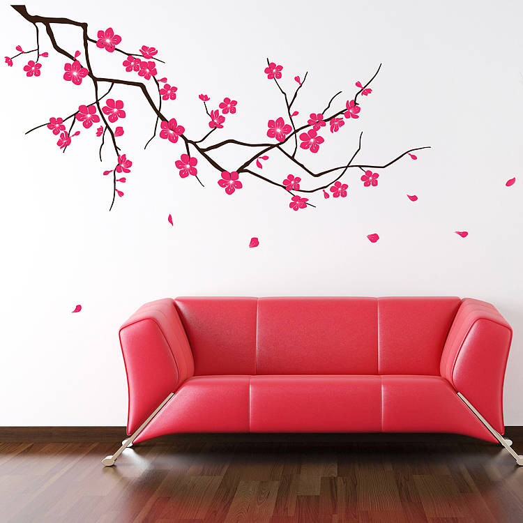 original_branch with falling blossom wall sticker