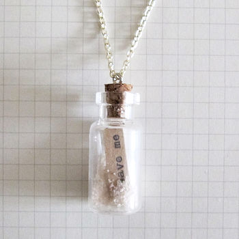 Message Bottle Necklace Save Me