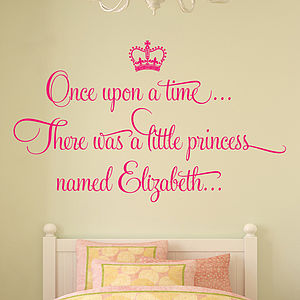 'Once Upon A Time' Personalised Wall Stickers - baby & child