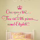 'Once Upon A Time' Personalised Wall Stickers