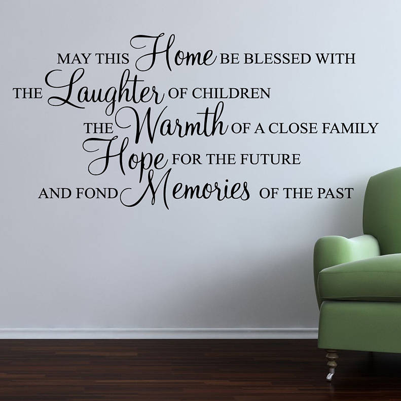 May this home be blessed wall stickers quote by parkins interiors