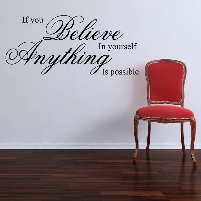Elegant If You Believe Wall Stickers Quotes