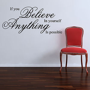 If You Believe Wall Stickers Quotes - sale by room