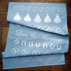 'Love & Marriage' Tea Towel
