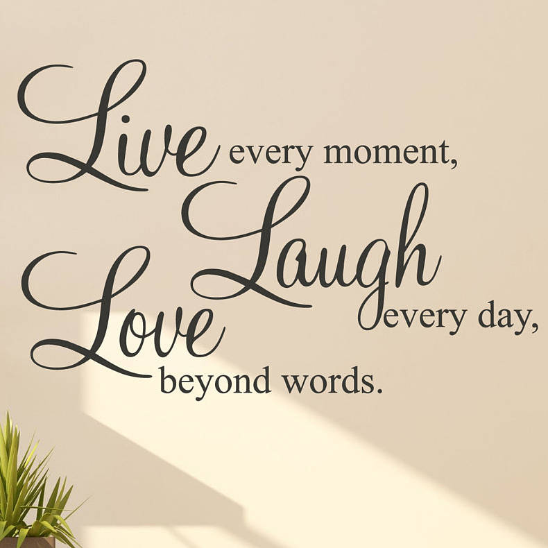 Love Wall Quotes: 'live Laugh Love' Wall Stickers Quotes By Parkins
