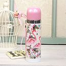 The Aviary Vintage Pink Flamingo Thermos Flask