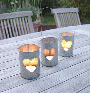 Heart Hanging Lantern - table decorations