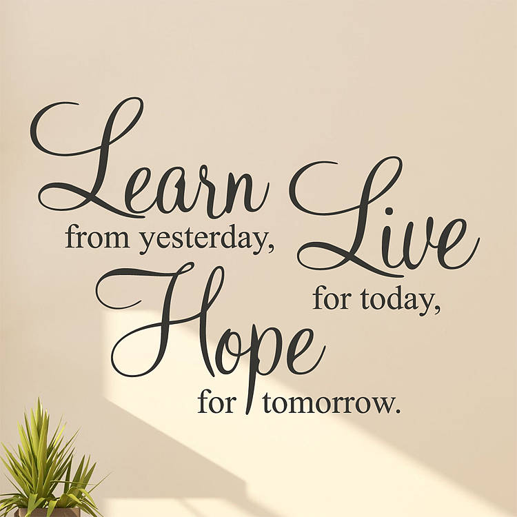 Great U0027Learn Live Hopeu0027 Wall Stickers Quotes. U0027