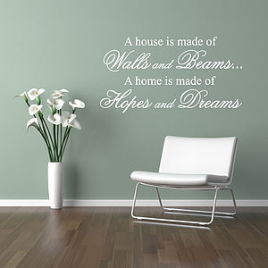 Hopes And Dreams Wall Stickers Quotes - wall stickers