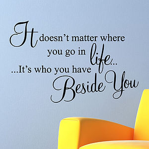 Beside You Wall Stickers Quotes - wall stickers