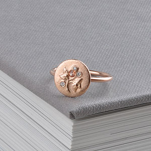 English Rose Diamond Ring - fine jewellery