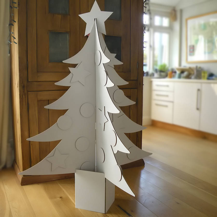 giant cardboard christmas tree by letterfest. Black Bedroom Furniture Sets. Home Design Ideas