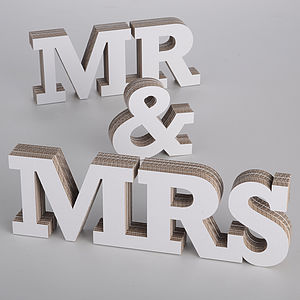 Mr & Mrs 3-D Letters - outdoor decorations
