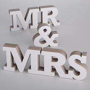Mr & Mrs 3-D Letters