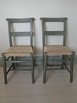 Two Painted Rail Back Chairs