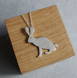 Handmade Silver Hare Pendant - necklaces & pendants