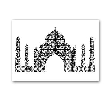 Damask Taj Mahal In Black