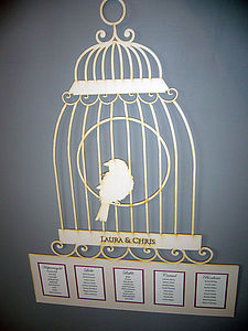 Lasercut Birdcage Table Plan - table decorations